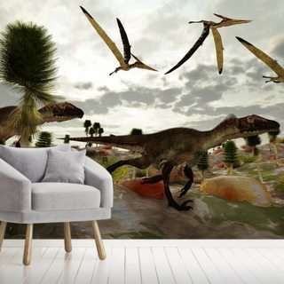 Utahraptor Hunt Wallpaper Wall Murals