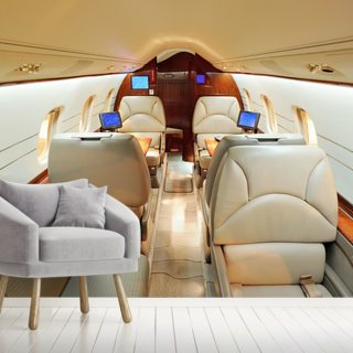 Interior of Luxury Jet