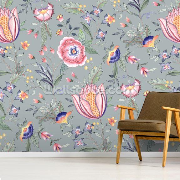 Chintz Dark Green Wallpaper Wallsauce Nz