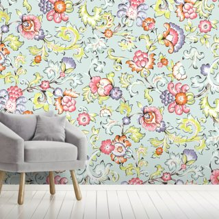 Jali Green Wallpaper Wall Murals