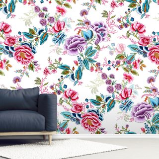 Sirohi White Wallpaper Wall Murals