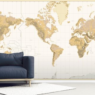 Beige World Map