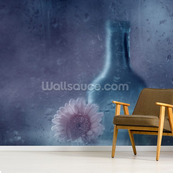 The Blue Bottle wallpaper mural room setting
