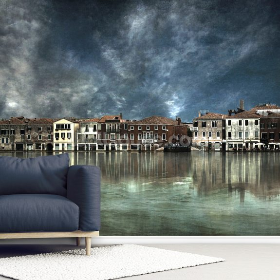 Reflections in Venice wallpaper mural room setting