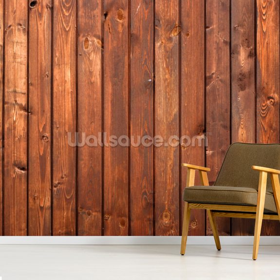 Wood Texture Dark Finish mural wallpaper room setting