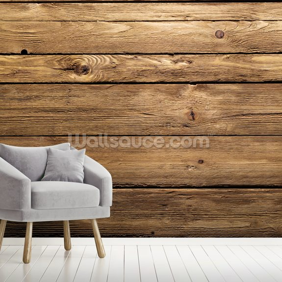 Wood Texture mural wallpaper room setting