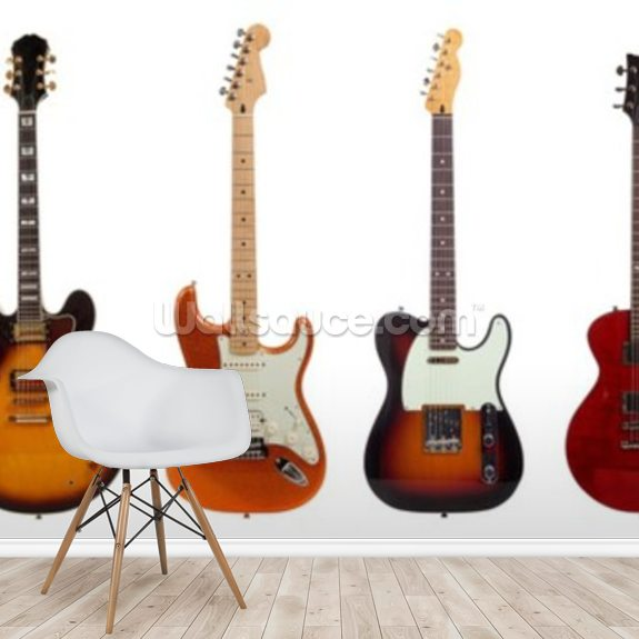 Guitars Wallpaper Mural Wallsauce Fi
