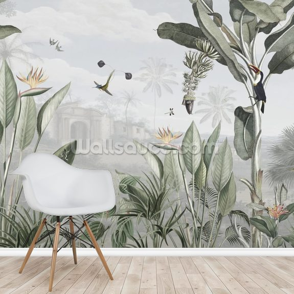 Botanical Beauty mural wallpaper room setting