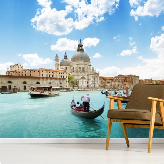 Grand Canal Gondola wall mural room setting