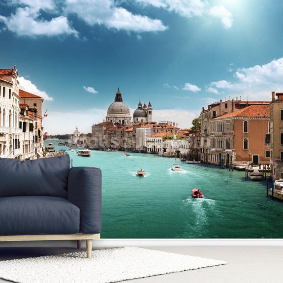 Venice Grand Canal wall mural room setting
