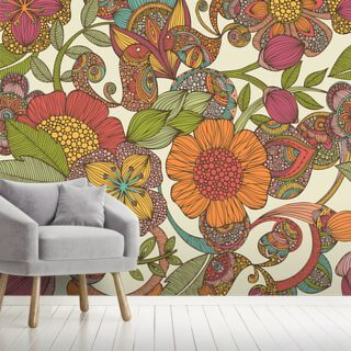 Birds and Flowers Wallpaper Wall Murals