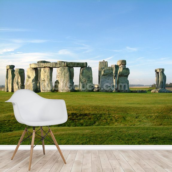Stonehenge mural wallpaper room setting