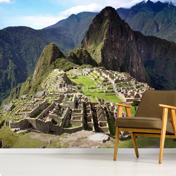 Machu Picchu wall mural room setting