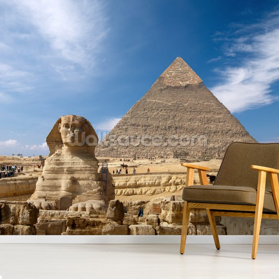 Great Pyramid at Giza wall mural room setting