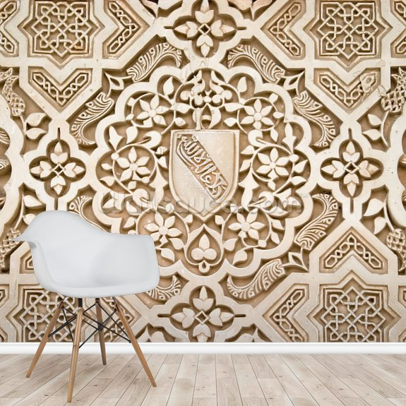Beautiful Stonework mural wallpaper room setting