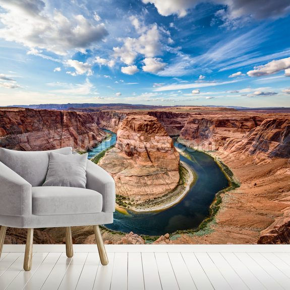Horseshoe Grand Canyon wall mural room setting