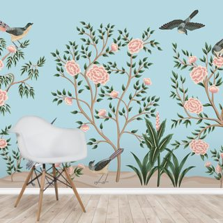 Floral Bird Chinoiserie