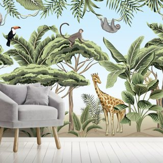 Jungle Life Wallpaper Wall Murals