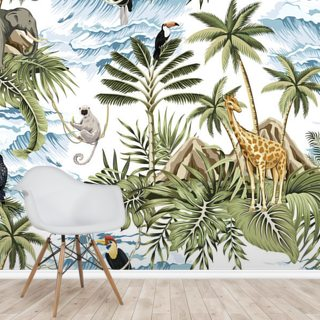 Jungle Islands Wallpaper Wall Murals