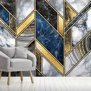 Navy and Gold Art Deco