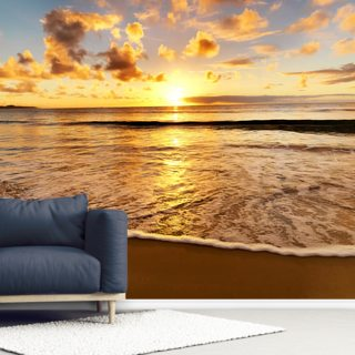 Beach Sunset Wallpaper Wall Murals
