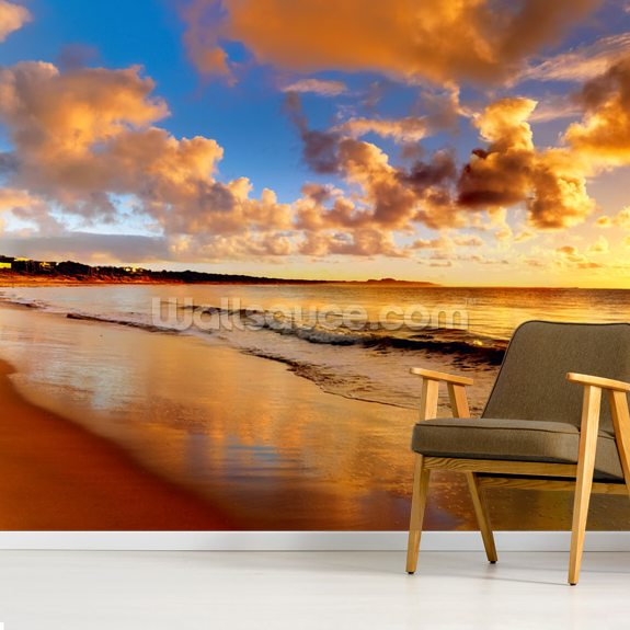Stunning Sunset Sky wall mural room setting