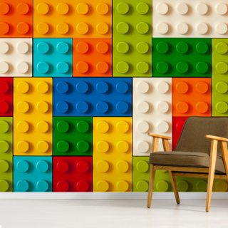 Wall of Toy Bricks