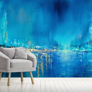Seagulls Over the Bridges Wallpaper Wall Murals