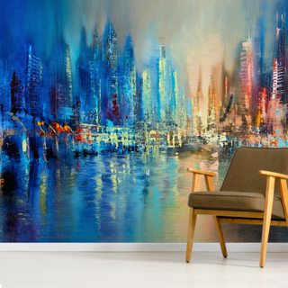 The Town Wallpaper Wall Murals