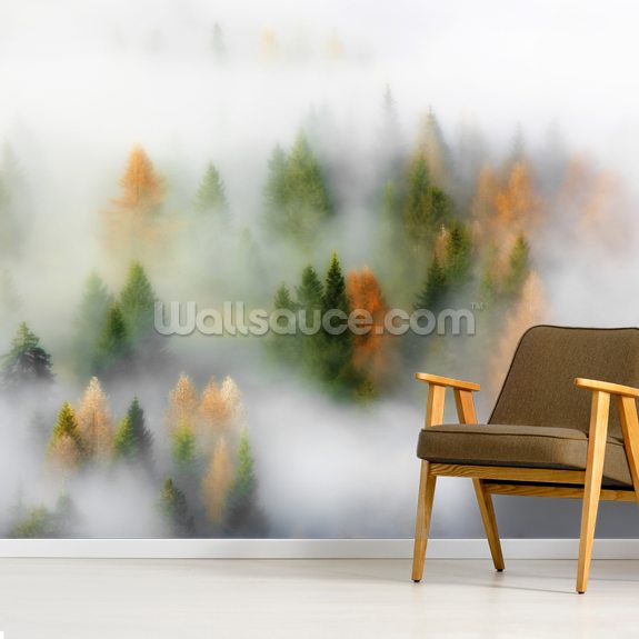 Autumn Dream wall mural room setting