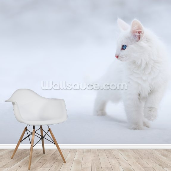 White as Snow wall mural room setting