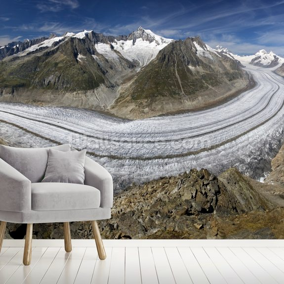 Aletschgletscher wall mural room setting