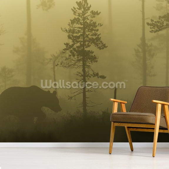 Morning Fog wallpaper mural room setting