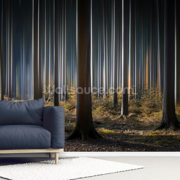 Mystic Wood mural wallpaper room setting