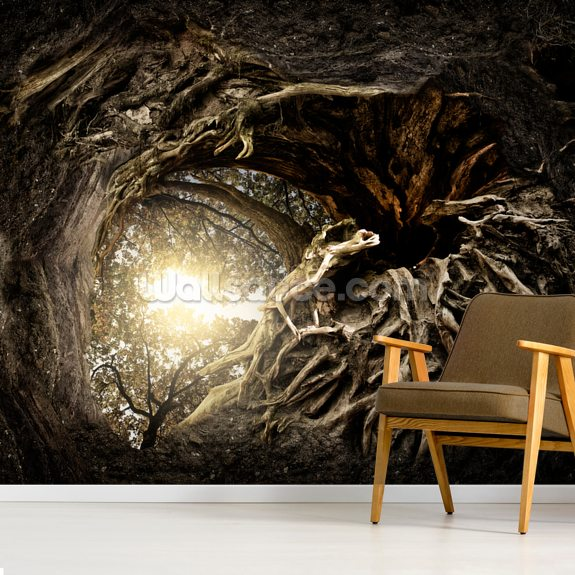 Under The Trees wallpaper mural room setting