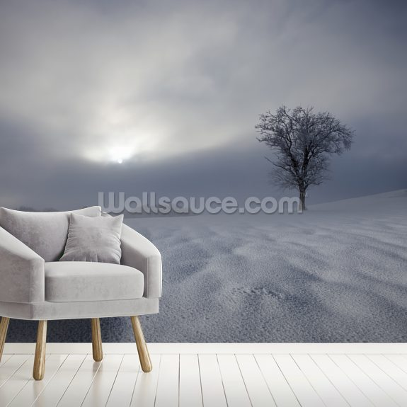 Winter Impression mural wallpaper room setting