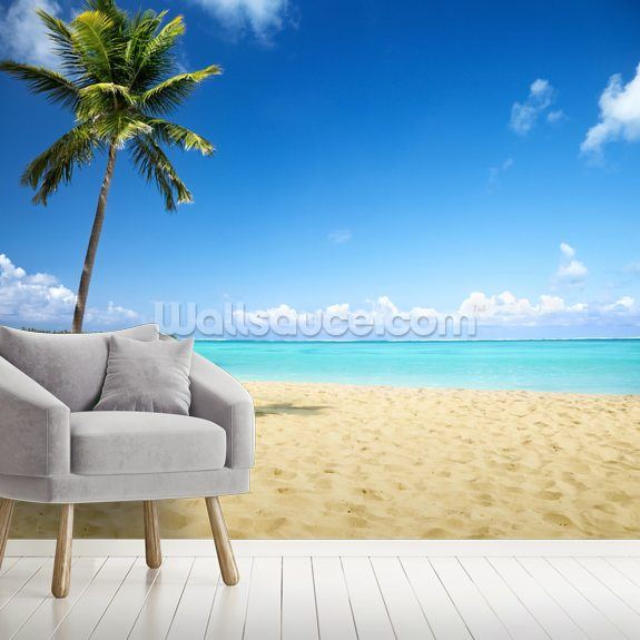 Palm Tree Paradise wallpaper mural room setting