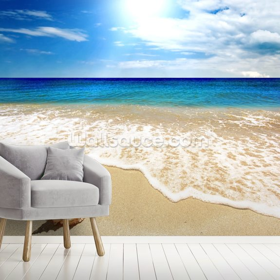 Washed Ashore wall mural room setting