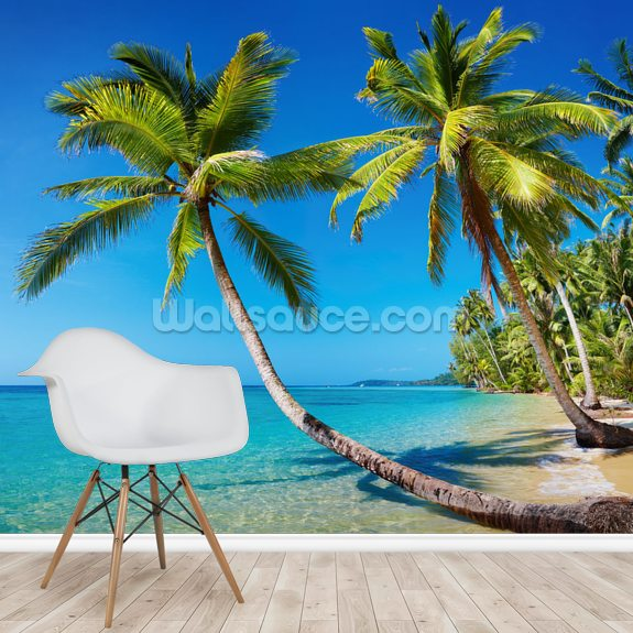 Tropical Beach, Thailand wallpaper mural room setting