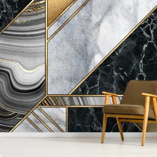 Gold and Grey Marble