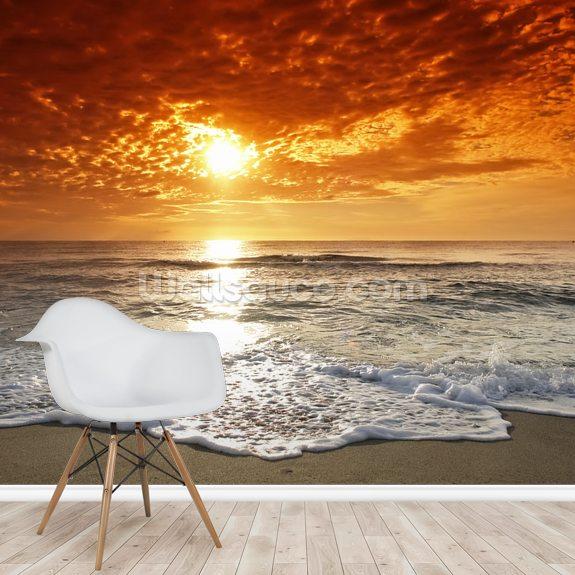 Ocean Sunset Wallpaper Mural