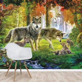 Wolf Family Wallpaper Wall Murals
