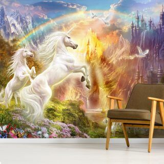 Sunset Unicorns Wallpaper Wall Murals
