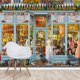 The Clothing Emporium Wallpaper Wall Murals