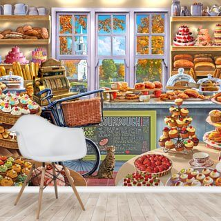 Bread and Cake Shop Wallpaper Wall Murals