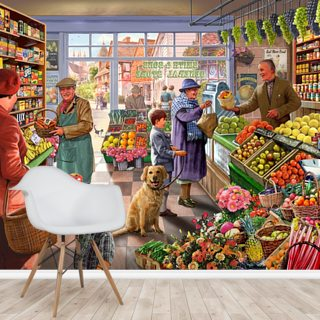 Village Greengrocer Wallpaper Wall Murals