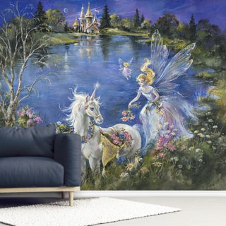 Flower Picking Wallpaper Wall Murals