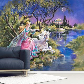 Resting by the River Wallpaper Wall Murals