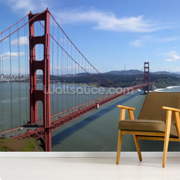 San Francisco Bay wall mural room setting