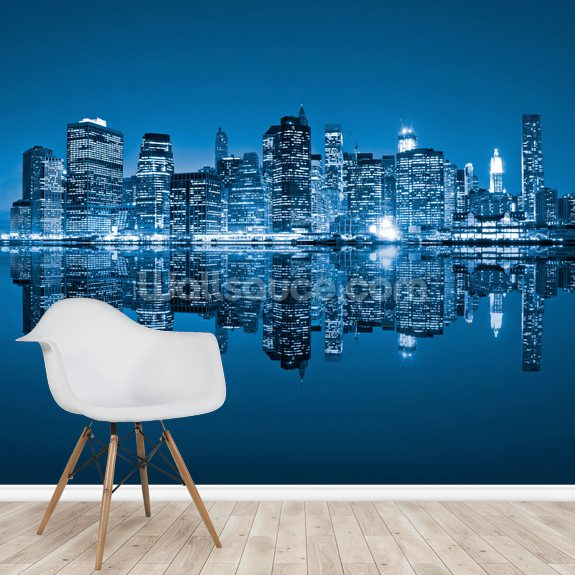 Manhattan, New York City wall mural room setting